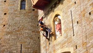 heritage work on castle