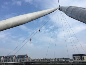 newport city bridge cleaned