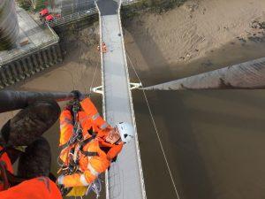 work on newport city bridge